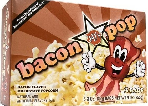 J&D's BaconPOP microwave popcorn (1 box of 3 bags) - Whimsical & Unique Gift Ideas for the Coolest Gift Givers