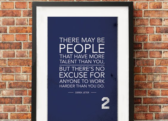 Derek Jeter Quote Poster