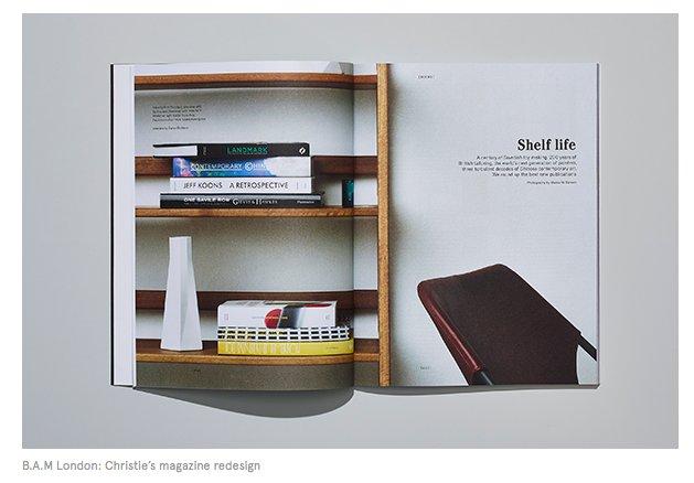 Minimal design for maximum impact: Christie's magazine