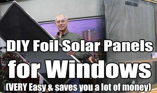 DIY Foil Solar Panels for Windows (VERY Easy)