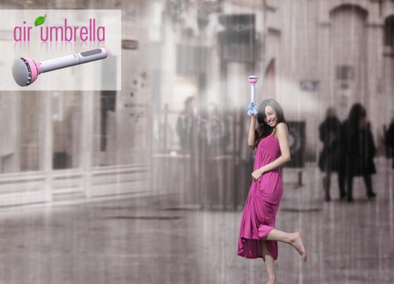 Air Umbrella holds off the rain with a force field of air - CNET