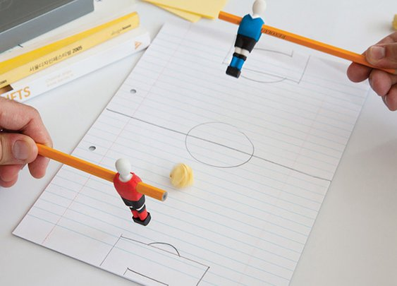Penball Playable Soccer Player Erasers