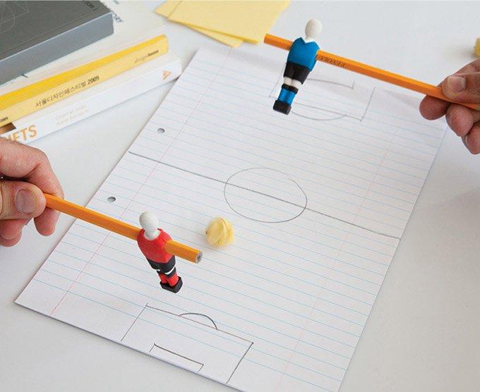 Penball Playable Soccer Player Erasers