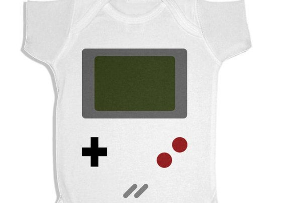 Handmade Gameboy Bodysuit Onesie