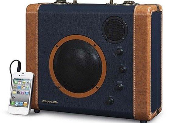 CR8008A Crosley Soundbomb Speaker System - Vintage Suitcase Speakers