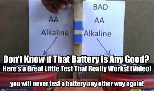 Don't Know if That Battery Is Any Good? Here's a Great Little Test That Really Works! - SHTF & Prepping Central