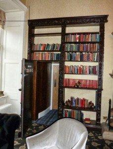 Secret Faux Bookcase Door in Castle   StashVault