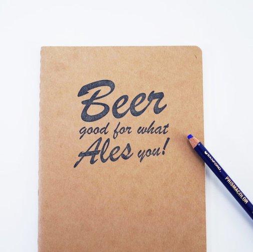Beer notebook homebrewing journal microbrew by blackbirdandpeacock