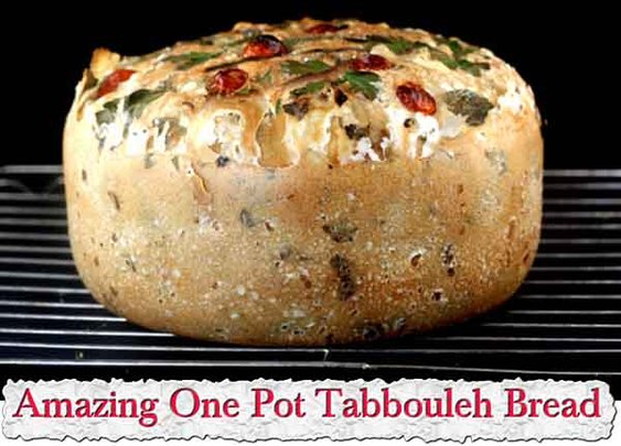 Amazing One Pot Tabbouleh Bread - LivingGreenAndFrugally.com
