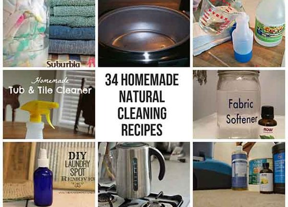 34 Homemade Natural Cleaning Recipes - LivingGreenAndFrugally.com