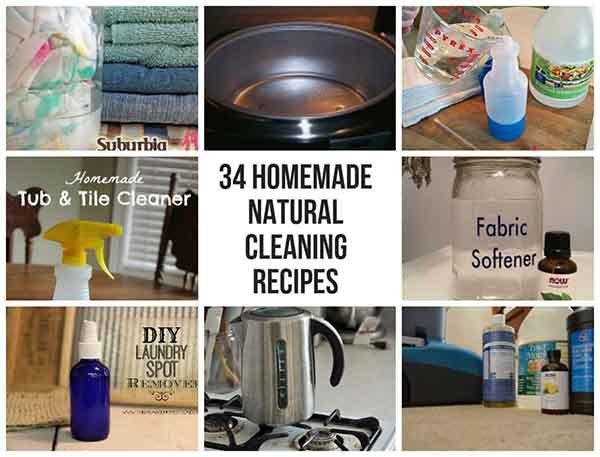 34 Homemade Natural Cleaning Recipes - LivingGreenAndFrugally.com