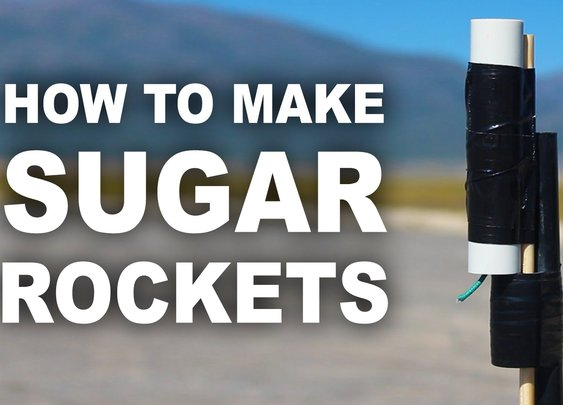 Making A Rocket With Sugar And Kitty Litter