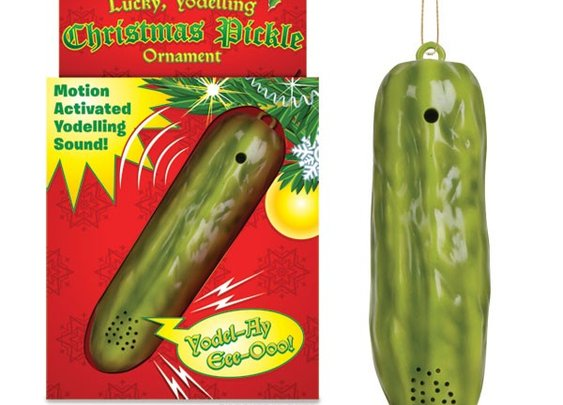 Lucky Yodeling Christmas Pickle Ornament by Accoutrements - Whimsical & Unique Gift Ideas for the Coolest Gift Givers