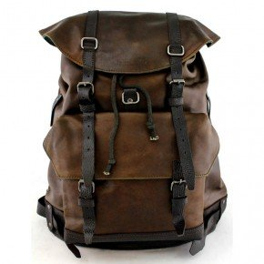 Vintage leather Backpack sycbolsos