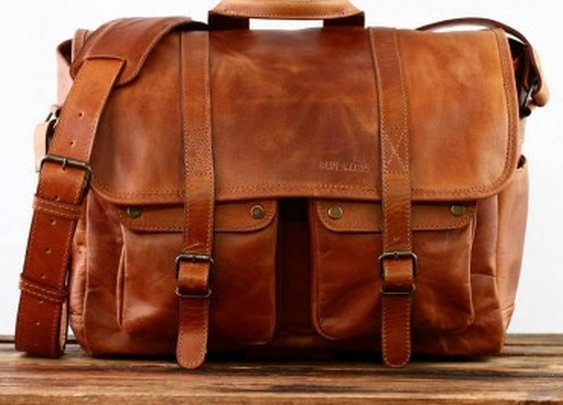 Camera leather Bag