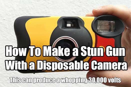 How To Make a Stun Gun With a Disposable Camera - SHTF & Prepping Central