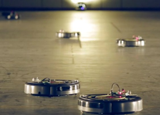 Robotic vacuum cleaners perform a Viennese Waltz at Interieur 2014