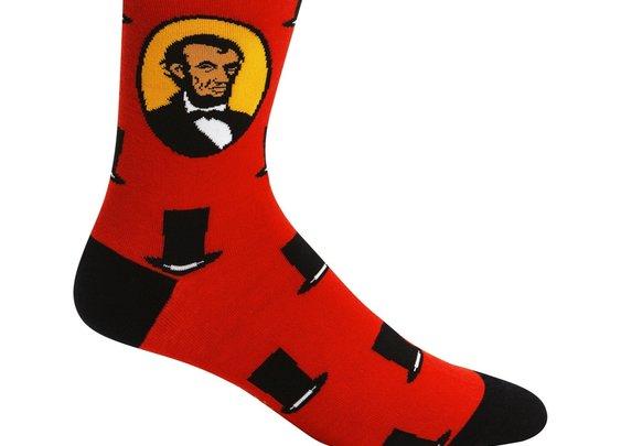 Sock it to Me Honest Abe Crew Socks - Abraham Lincoln Socks
