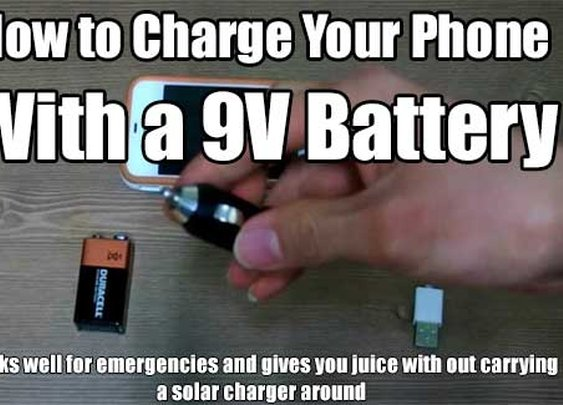 How to Charge Your Phone With a 9V Battery - SHTF & Prepping Central