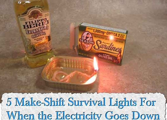 5 Make-Shift Survival Lights For When the Electricity Goes Down - LivingGreenAndFrugally.com