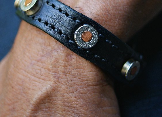 Vvego Gunner Leather Bracelet - Vvego