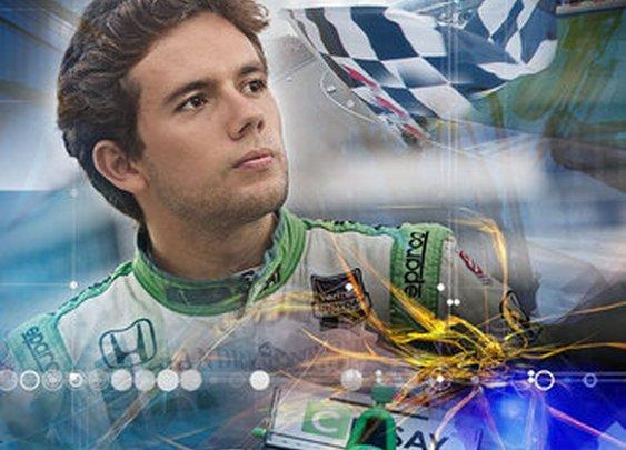 Andretti Autosport Carlos Muñoz Checkered Flag Poster - shopandretti.com