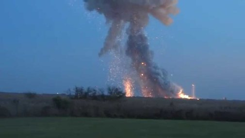 ANTARES EXPLODES!!! Panic at the press site! Orbital's rocket blows up