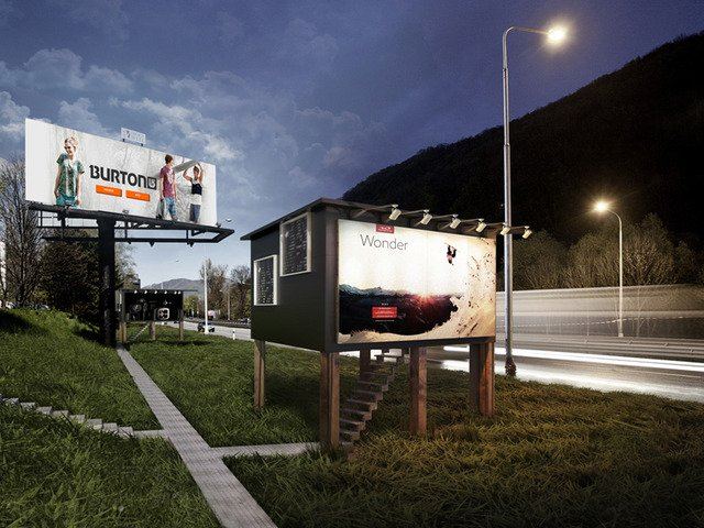 Billboards Doubling as a Home for the Homeless