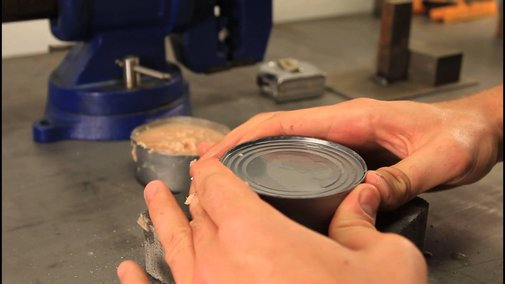 How to Open a Can without Can Opener - Zombie Survival Tips #20 - YouTube