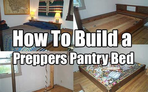 How To Build A Preppers Pantry Bed - SHTF & Prepping Central