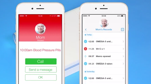 Memo Box, the smart pillbox that reminds you to take your medication