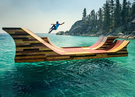 Floating Skate Ramp