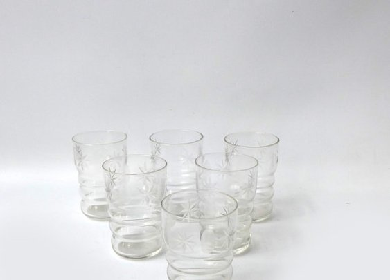 Vintage 1930s etched cordial glasses by evaelena on Etsy