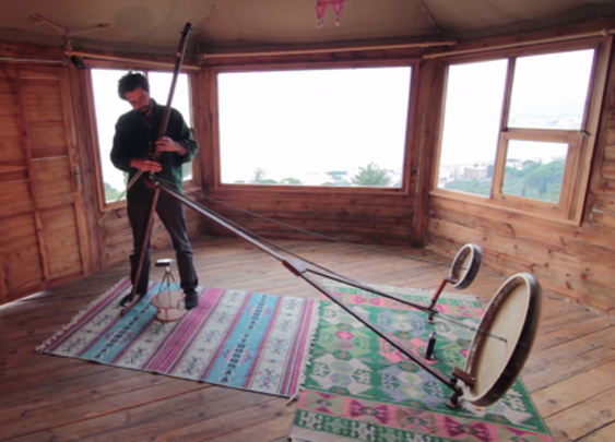 Unique Yaybahar acoustic instrument sounds like a digital space violin