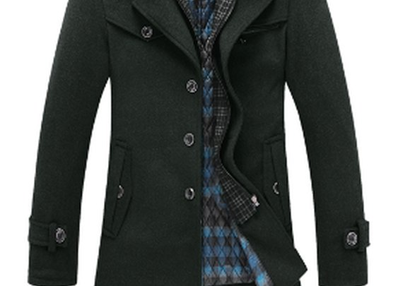 Men's Dual Collar Military style coat