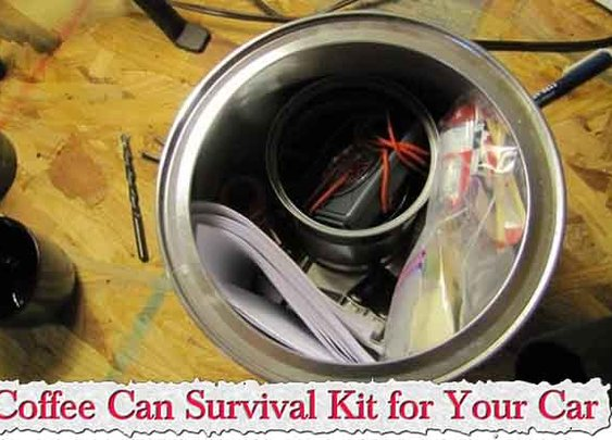 Coffee Can Survival Kit for Your Car - LivingGreenAndFrugally.com