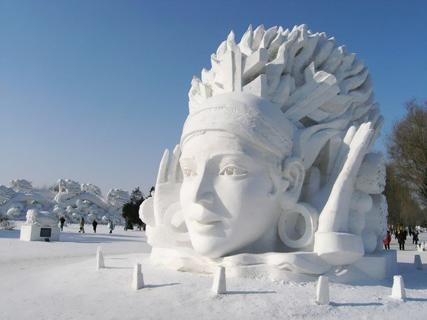 The Chinese Snow Sculpture Festival - a white fairy tale