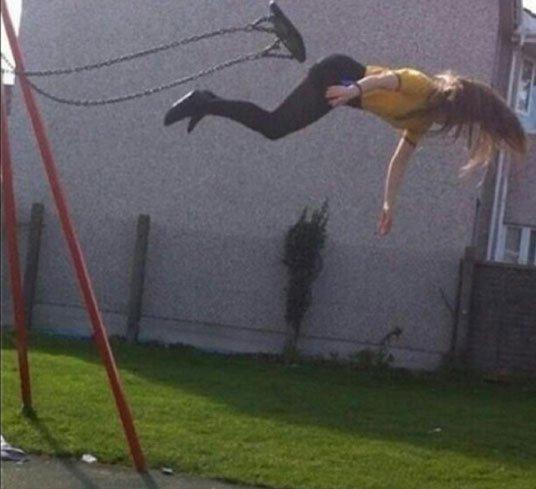 Shoving Kids Off Swings