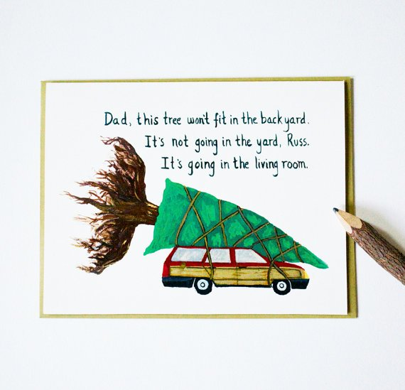 National Lampoon's Christmas Vacation cards by blackbirdandpeacock
