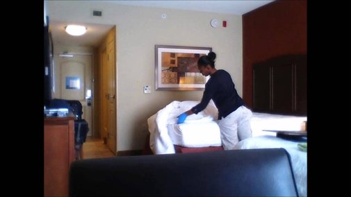 Hotel Maid Caught in the Act