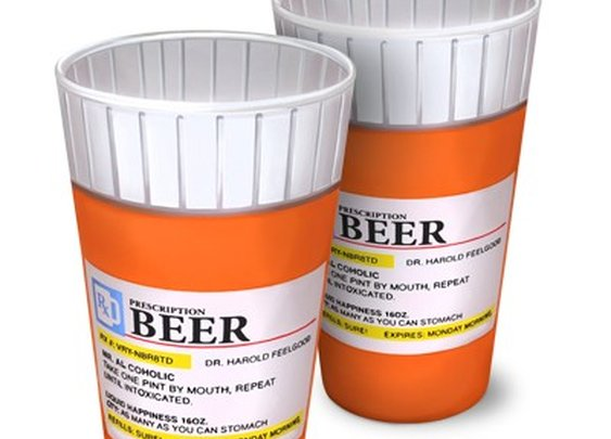 RX Prescription Pill Bottle Pint Glass Set of 2 by Big Mouth Toys