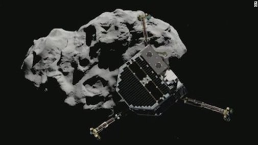 Space probe scores a bull's-eye with comet landing