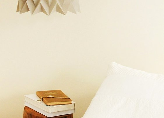 artistic origami lamp