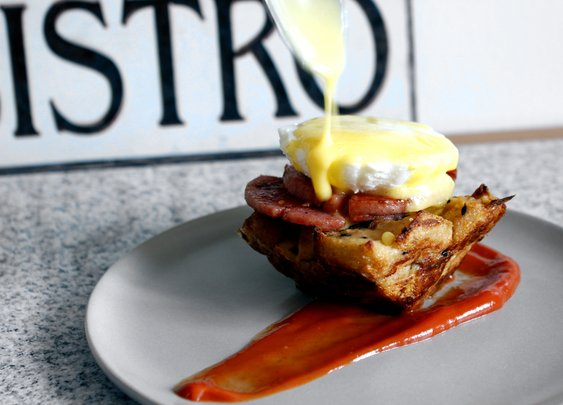Pork Roll Benedict - rotio/food