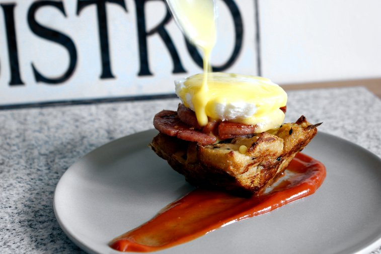 Pork Roll Benedict - rotio/food