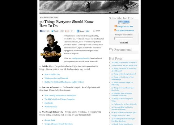 50 Things Everyone Should Know How To Do - StumbleUpon