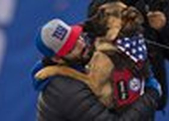 Giants surprise Army veteran with service dog