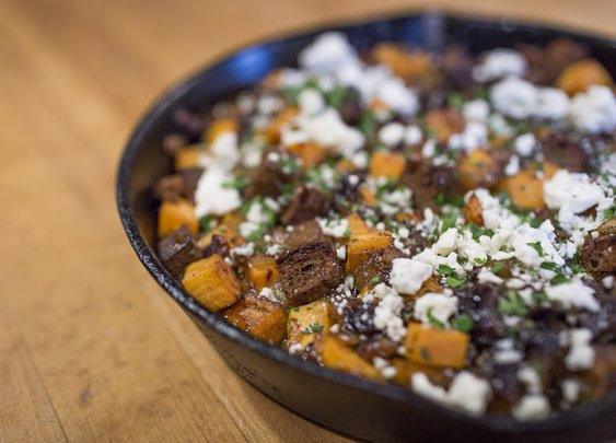 Roasted Sweet Potatoes with Prunes and Blue Cheese  Recipe | Yummly