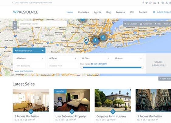 WP Residence - Premium Real Estate WordPress Theme