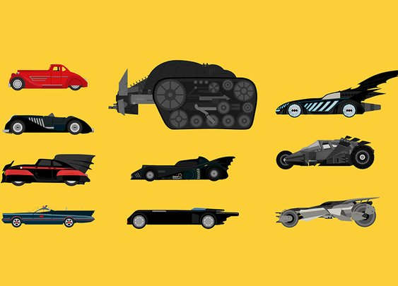 10 Iconic Batmobiles Illustrated | Highsnobiety